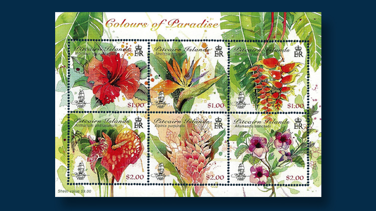 Recent stamps, souvenir sheets feature colorful, edible and ...