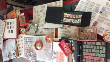 Stamps: Some of them are over 60 years old.