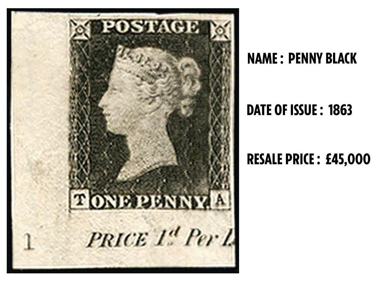The Penny Black is the world's first stamp