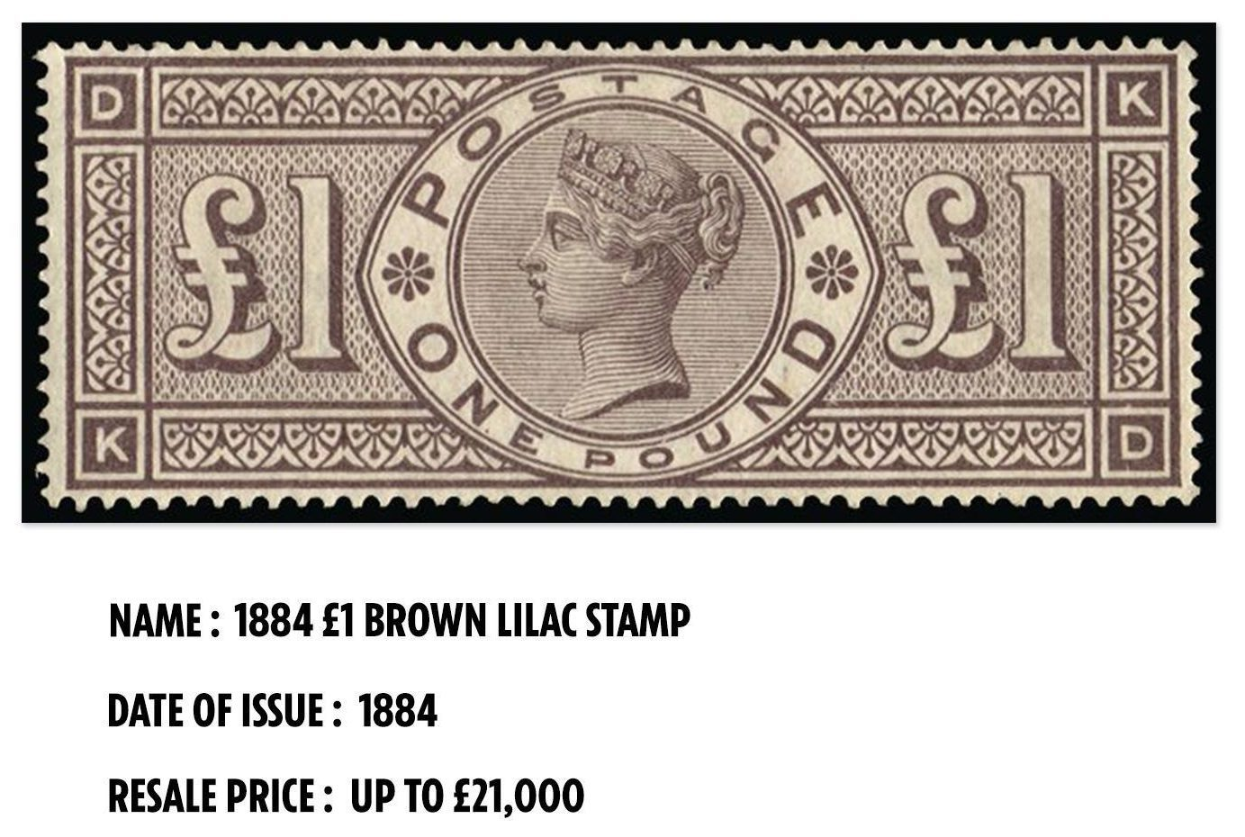 A mint condition version of this stamp sold for £21,000