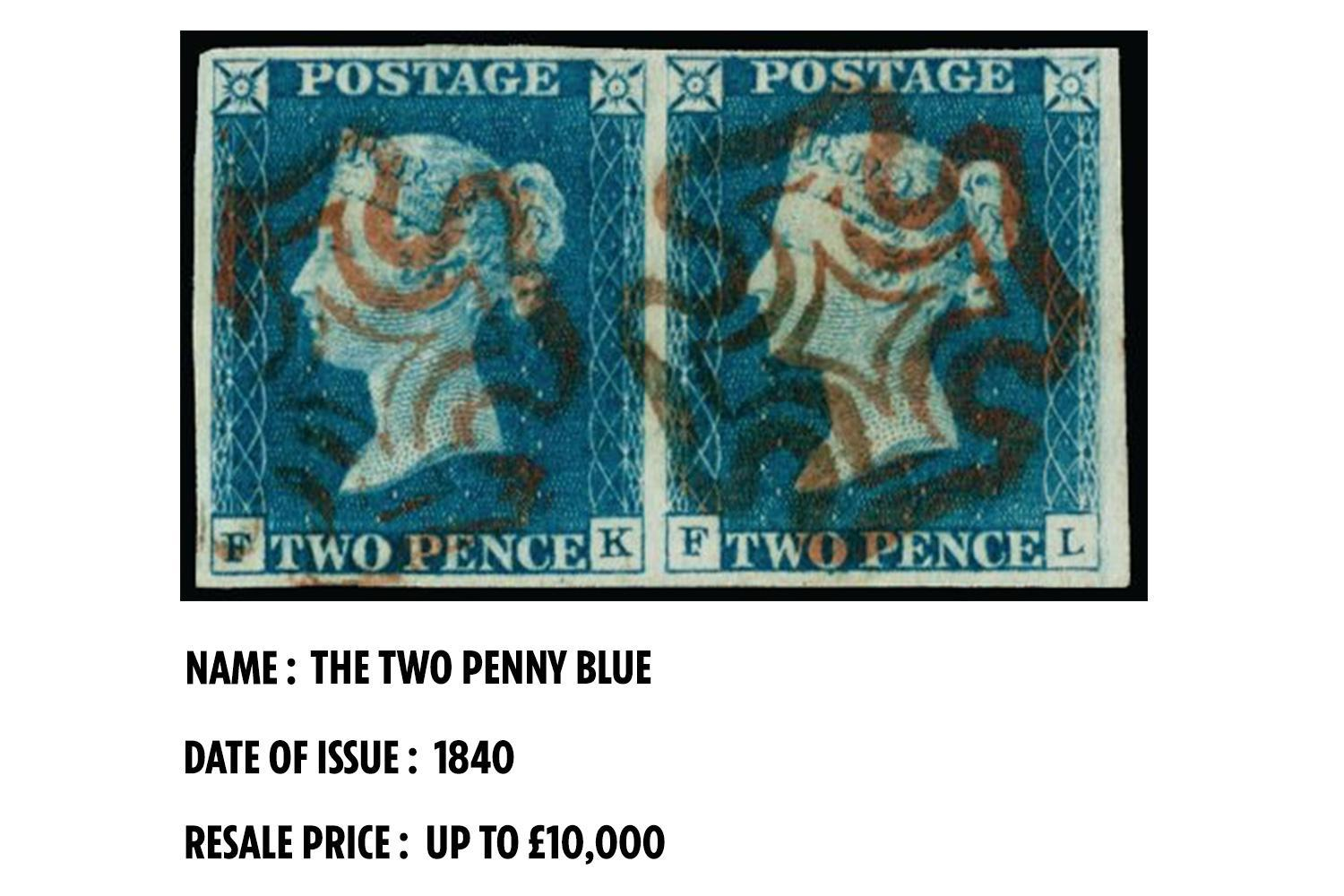 The Two Penny Blue is the world's second stamp