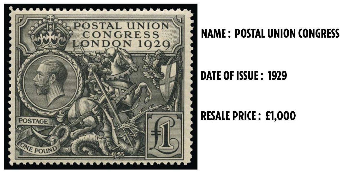 """This stamp, which is considered to be a """"design classic"""", can sell for £1,000"""