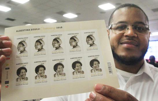 Grandson of Albertina, Duma Sisulu, at the launch of the Albertina Sisulu Centenerary Commemorative stamps at GCIS. Picture: Jacques Naude/African News Agency/ANA